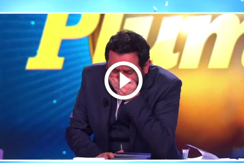 Cyril Hanouna vomit de rire