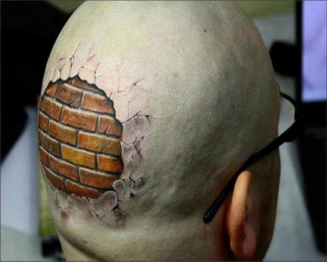 crâne en briques