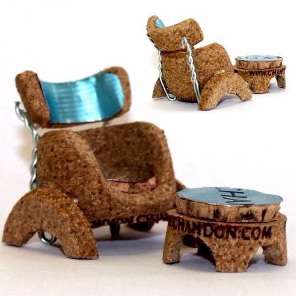 mini chaise bouchon de champagne