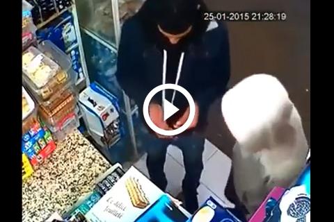 voleur pris en sur le fait grace a caméra de surveillance