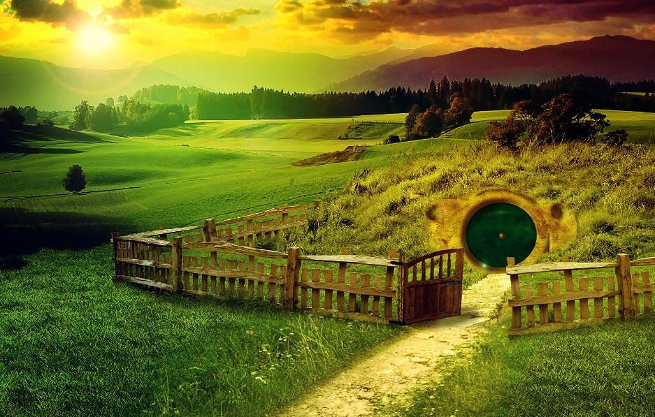 Le village des Hobbits dans Le Seigneur des Anneaux 2