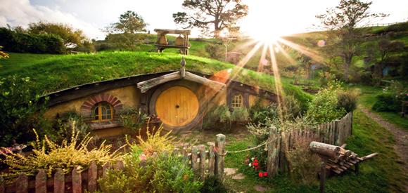 Le village des Hobbits dans Le Seigneur des Anneaux 3