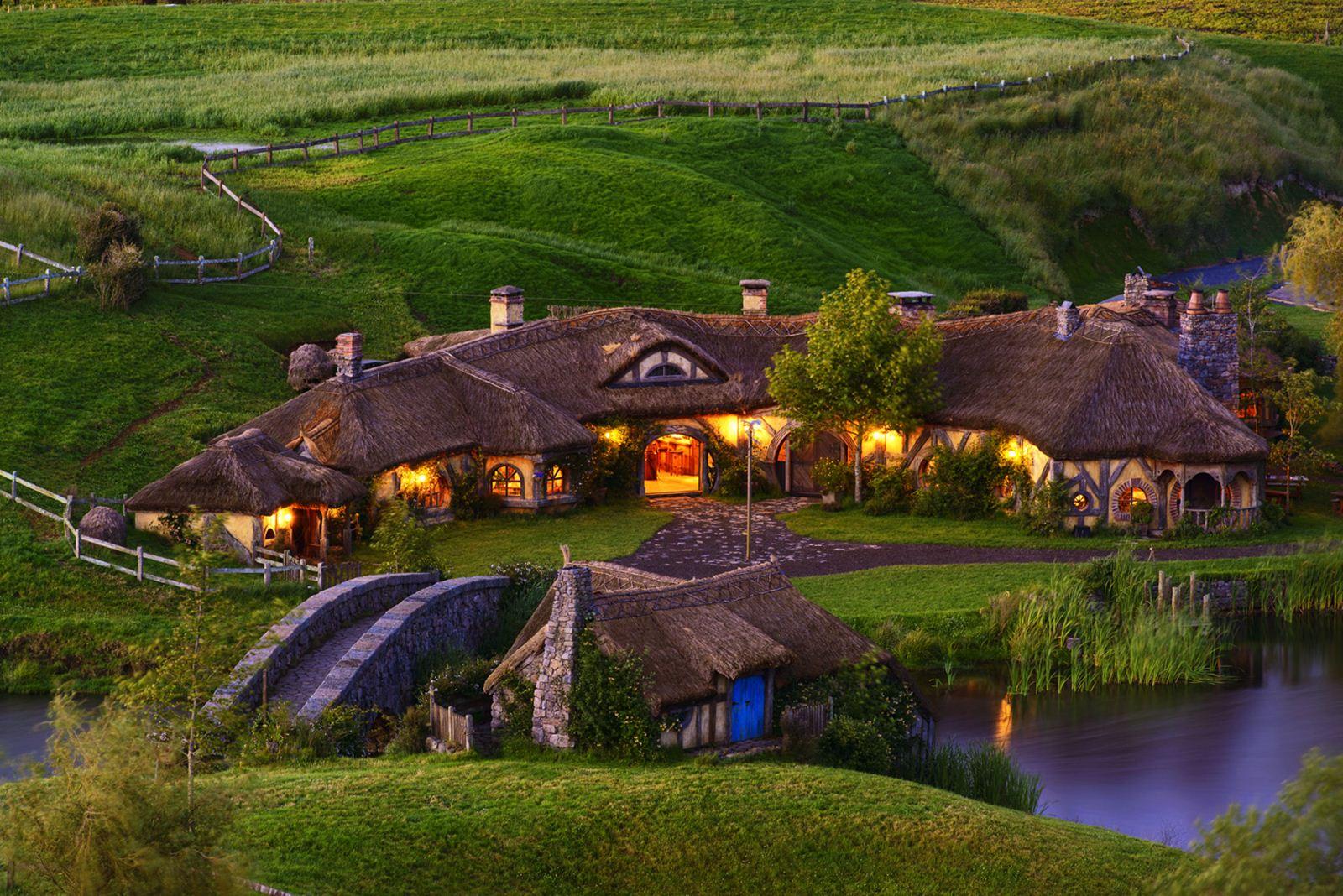 Le village des Hobbits dans Le Seigneur des Anneaux