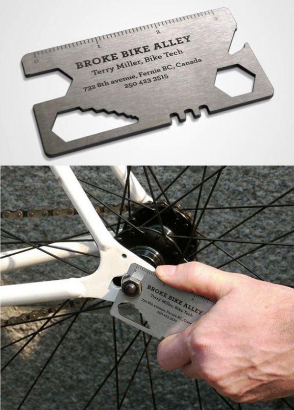 carte de visite métal outils