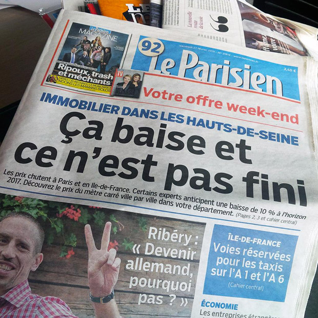 faute de frappe dans le parisien