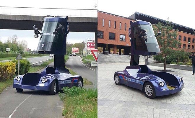 nouvelle voiture de police à Evry 2