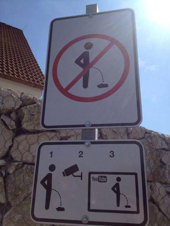 panneau interdit d'uriner
