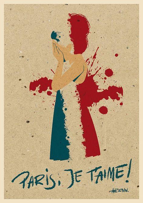dessin hommage aux victimes attentat 13 nov 2015 paris - 03